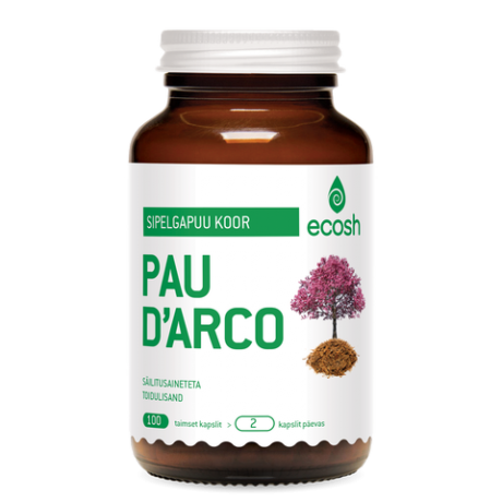 Pau d'Arco e. Sipelgapuu koore kapslid, 100 tk