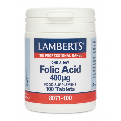 Lamberts Folic Acid 400 mcg N100