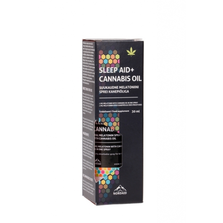 Melatoniini sprei Sleep Aid + Cannabis Oil, 30 ml