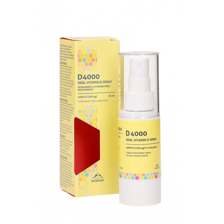 Vitamin D spray  4000 IU (100 mcg), 30 ml