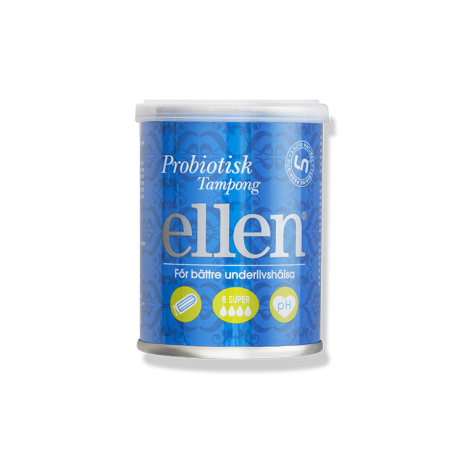 ellen® Probiotic Tampons Super, 8 pcs
